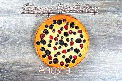 Happy Birthday Cake for Anusha