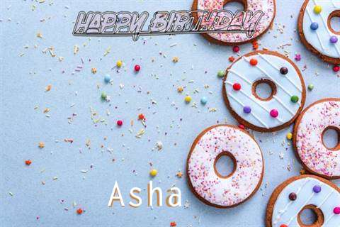 Happy Birthday Asha Cake Image