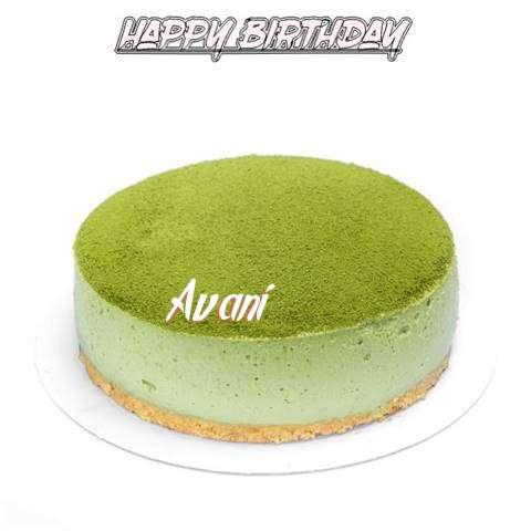 Happy Birthday Cake for Avani