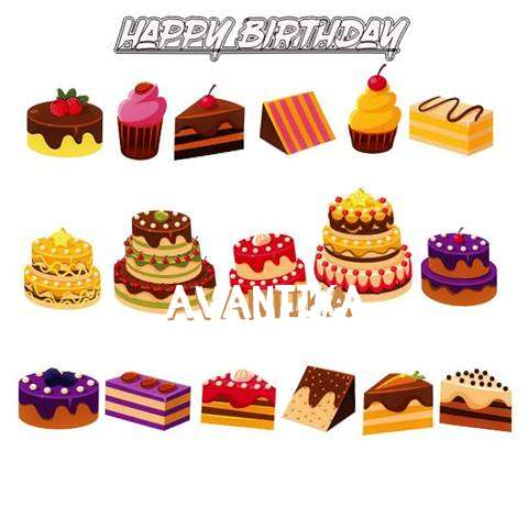 Happy Birthday Avantika Cake Image