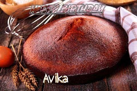 Happy Birthday Avika Cake Image