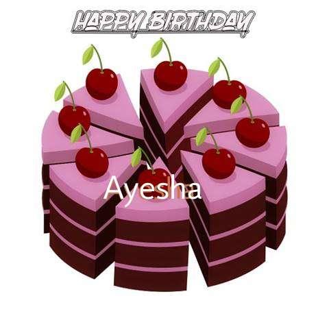 Happy Birthday Cake for Ayesha