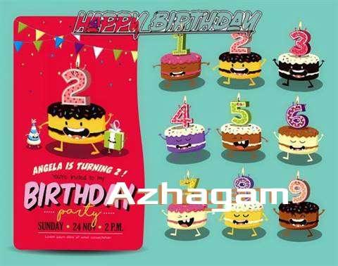 Happy Birthday Azhagam Cake Image
