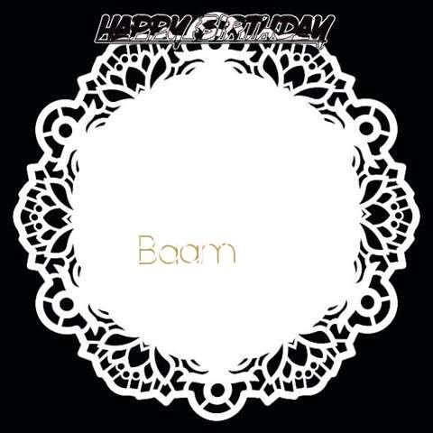 Happy Birthday Baam Cake Image