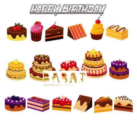 Happy Birthday Babar Cake Image
