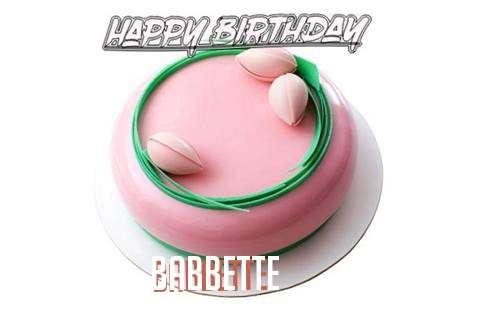 Happy Birthday Cake for Babbette