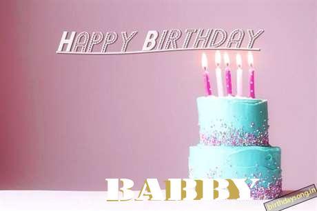 Happy Birthday Cake for Babby