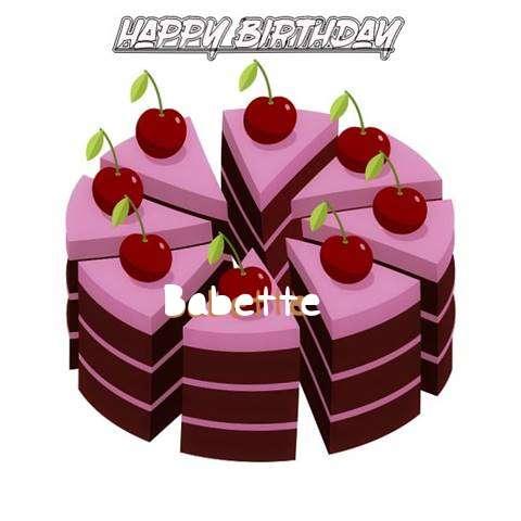 Happy Birthday Cake for Babette