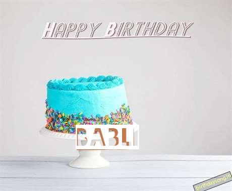 Happy Birthday Babli Cake Image
