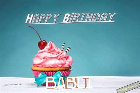 Happy Birthday to You Babli