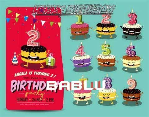 Happy Birthday Bablu Cake Image
