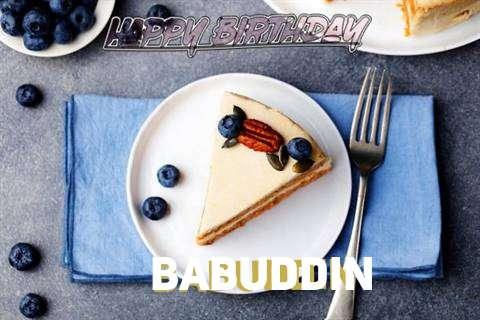 Happy Birthday Babuddin Cake Image