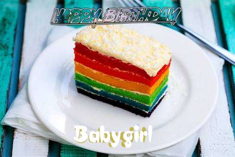 Happy Birthday Babygirl Cake Image