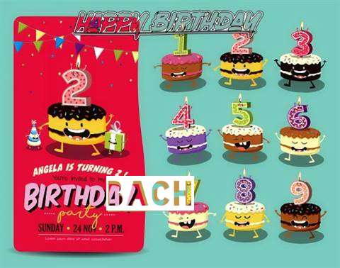 Happy Birthday Bach Cake Image