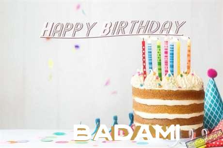 Happy Birthday Badami Cake Image