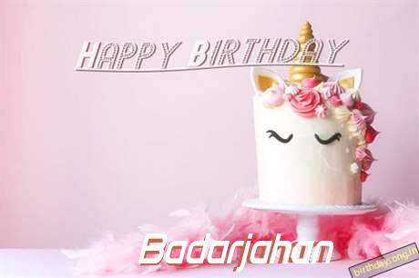 Happy Birthday Cake for Badarjahan