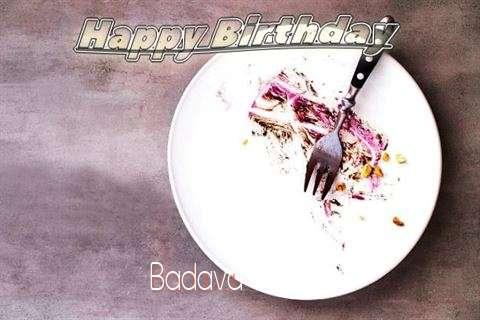 Happy Birthday Badava Cake Image