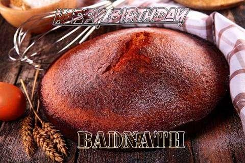 Happy Birthday Badnath Cake Image