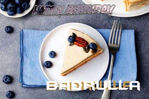 Happy Birthday Badrulla Cake Image