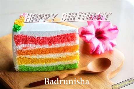 Happy Birthday Badrunisha Cake Image