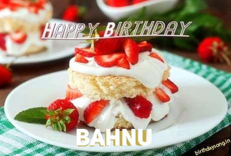 Happy Birthday Bahnu Cake Image