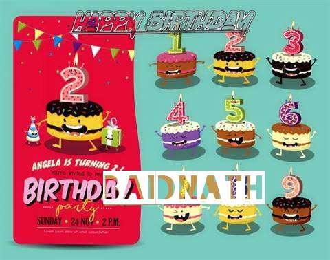 Happy Birthday Baidnath Cake Image