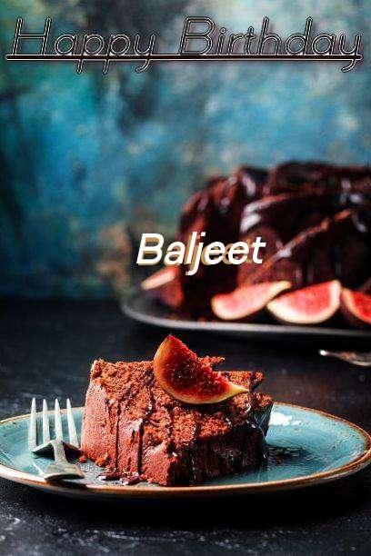 Happy Birthday Baljeet Cake Image