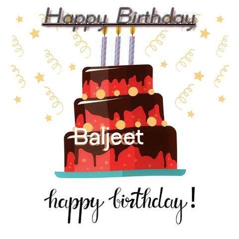 Happy Birthday Cake for Baljeet