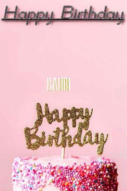 Happy Birthday Bambi