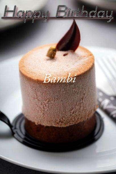 Happy Birthday Cake for Bambi