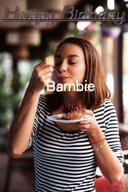 Happy Birthday Bambie Cake Image