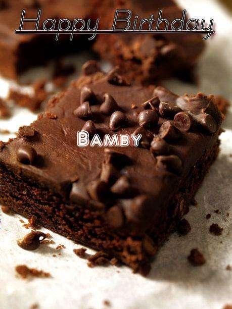 Happy Birthday Bamby Cake Image