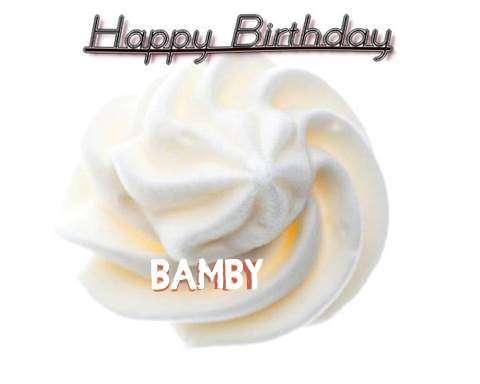 Happy Birthday Cake for Bamby