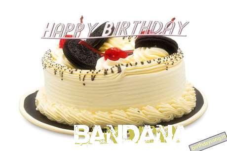 Happy Birthday Cake for Bandana