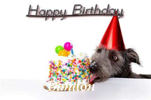 Happy Birthday Bandon Cake Image