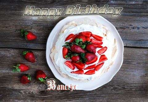 Happy Birthday Banerjee Cake Image