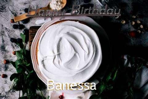 Happy Birthday Banessa Cake Image