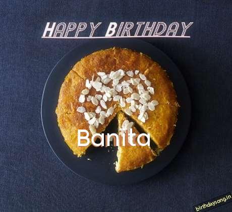 Happy Birthday Banita Cake Image