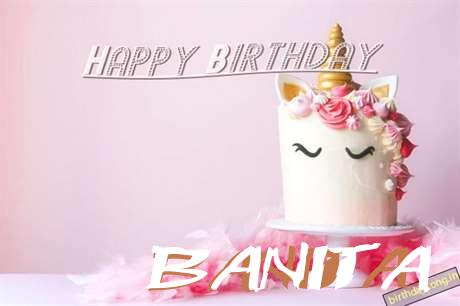 Happy Birthday Cake for Banita