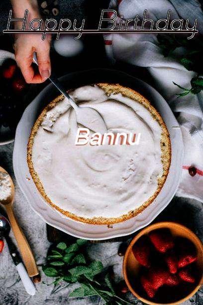 Happy Birthday Cake for Bannu