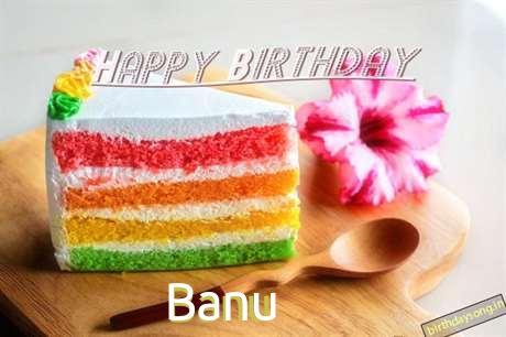 Happy Birthday Banu Cake Image