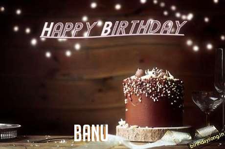 Happy Birthday Cake for Banu