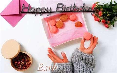 Happy Birthday Barb Cake Image
