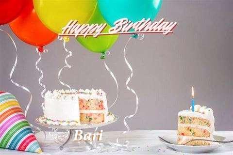 Happy Birthday Cake for Bari