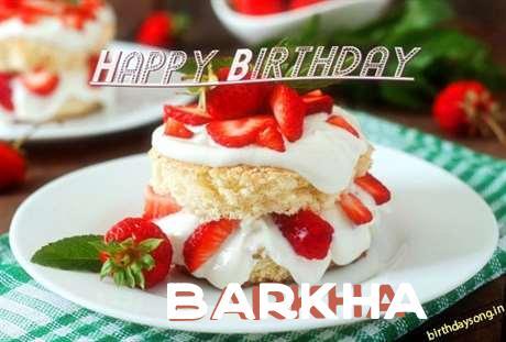Happy Birthday Barkha Cake Image
