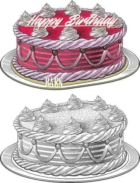 Happy Birthday Barn Cake Image