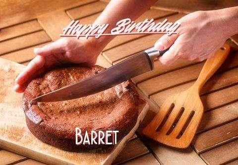Happy Birthday Barret Cake Image