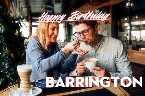 Happy Birthday Barrington Cake Image