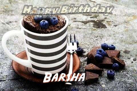 Happy Birthday Barsha Cake Image