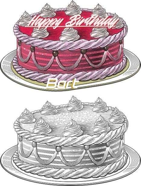 Happy Birthday Bart Cake Image